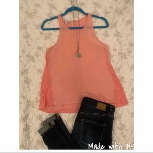 ✨Coral Tank with Back Split✨